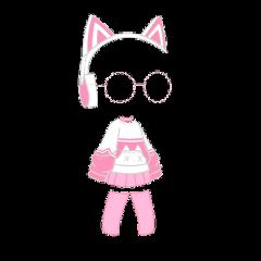 gacha gachalife gachaclub life club gamer clothes clothing dress skirt hoodie oversized cat kitty glasses headphones girl pink pastel aesthetic cute kawaii adorable freetoedit
