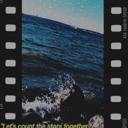 stars sea nightsky stone film movie negatives freetoedit srcfilmstar filmstar