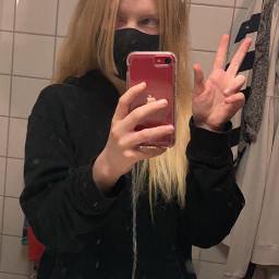 black bathrom red redphone phone