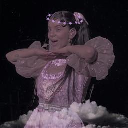 angel angelic angeledit halo clouds filter pink purple dark aesthetic alt indie y2k 2000s cute girl melaniemartinez melanie martinez k12 k12tour crybaby 90s y2kaesthetic freetoedit