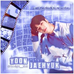 treasure kpop blue aesthetic blueaesthetic clouds kpopedit jaehyuk yoonjaehyuk treasurejaehyuk