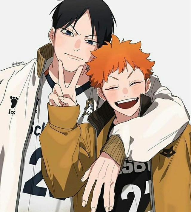 We might be in different places and teams but the dosen't mean I won't hang out with you anymore or stopped loving @lil_baby_tangerine #kageyama #hinatahaikyuu #kagehina