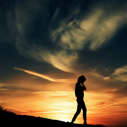 picsart sunset women ground sillhouette walking freetoedit unsplash