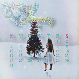 januarycalendar january snow capricorn tree magic calendarchallenge january2021 januarychallenge freetoedit srcjanuarycalendar