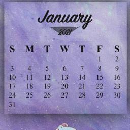 calendario2021 january enero 2021