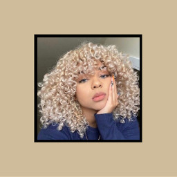 freetoedit blonde afro curls