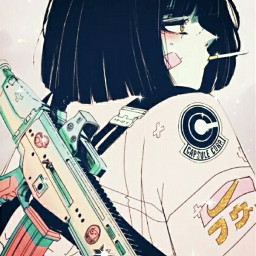 badgirl anime smoke ʕ