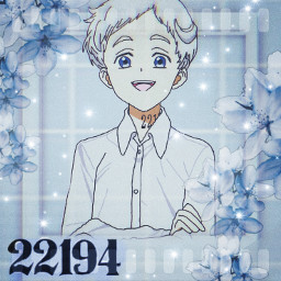 norman 22194 gosupporther drawing mybffdrawing bff blue aesthetic thepromisedneverland frame flowers supportyoungartists glitter border freetoedit