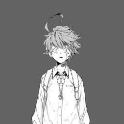 emma tpn anime thepromisedneverland animeappicon grey white black freetoedit