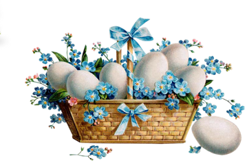 easter basket eggs blue freetoedit