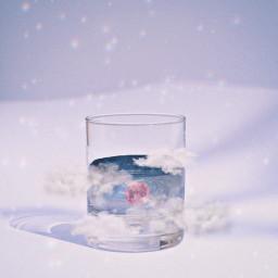 space cloud planet moon interesting art challenge cup water stars astro freetoedit ircglassofwater glassofwater