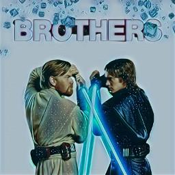 starwars anakinskywalker obiwankenobi brothers freetoedit