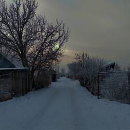 зима снег небо облака белый дорога путь