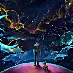 galaxy chien homme pour cool tranquillity