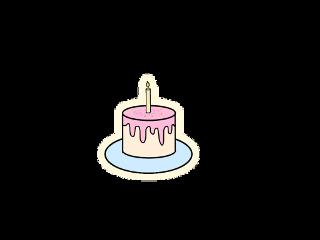 cake candle birthday birthdaycake aesthetic freetoedit