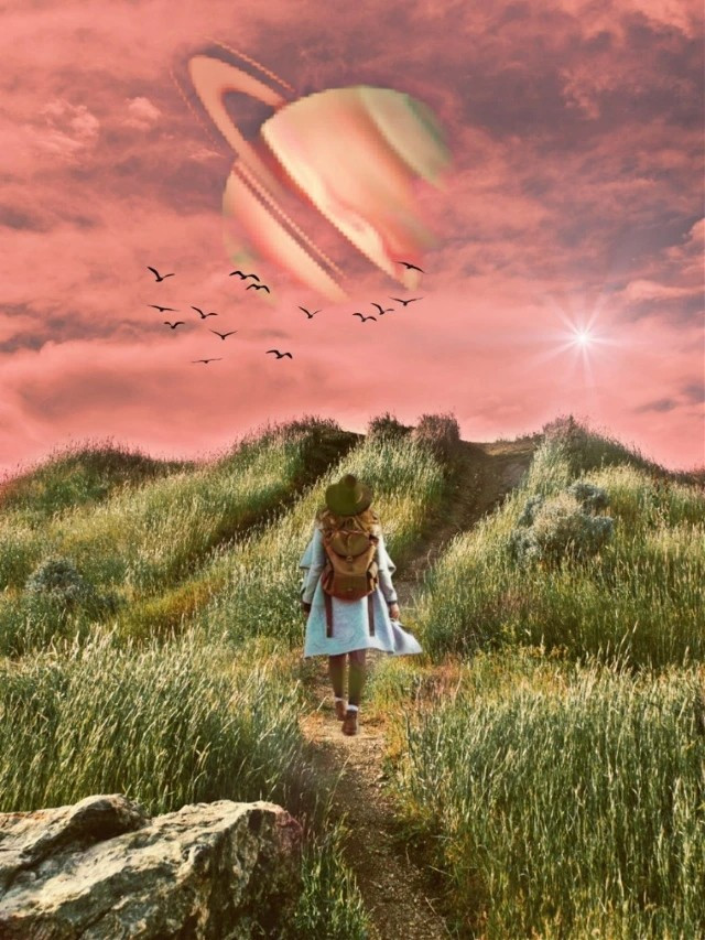 Escape to a magical wonderland 💫 PicsArt Master @picsart_1976⁠ shows how creativity is truly endless 🪐 #surreal #planet #magical #freetoedit