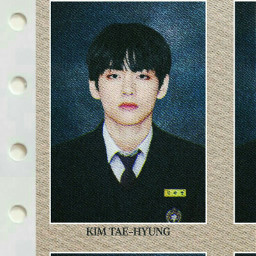 taehyung bts identity id card mugshot realistic cybercore core magazine collage student