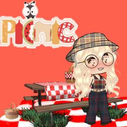 clothes animegirl picsart red orange picnic freetoedit