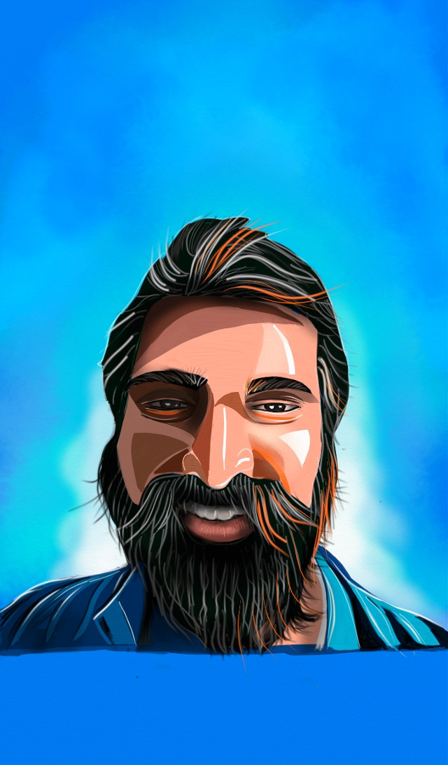 My #painting #drawing #bearded #illustration  painted with #artrage