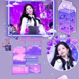 izone izonewonyoung wallpaperkpop purpleaesthetic