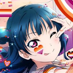 yoshikotsushima tsushimayoshiko yohanetsushima tsushimayohane yoshiko yohane tsushima lovelive aquors llsif lovelivesunshine lls llas loveliveallstars loveliveschoolidolfestival lovelivesunshineovertherainbow anime animegirl bluehair bluehaired bluehairedanimegirl pinkeyes pinkeyed pinkeyedanimegirl guiltykiss freetoedit