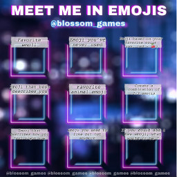 freetoedit remixit new game blossomgames template bored blossom aboutme quiz bingo emojis meetme emoji neon