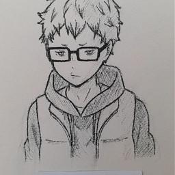 tsukki tsukishima kei tsukishimakei keitsukishima haikyuu hq anime animeboy animedraw animedrawing