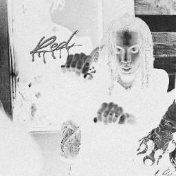 playboicarti opium slatt artistic colorful colorsplash white black greenblack rapper offwhite carti vampire style model sitting rap hiphop wlr wholelottared freetoedit