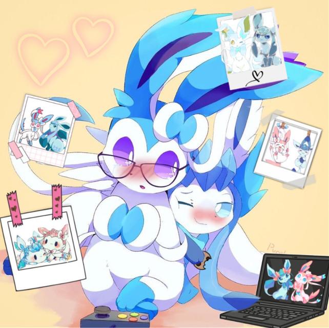 #PastelGlacia #SapphireSylvia #Edit #Cookie #ilyuwu #nom #sylveon #glaceon #pokemon #pokemonedit #cute #thankyouforeverything