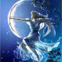 artemisasart artemis huntersofartemis artemisgoddessofthehunt artemisgoddess artemishuntresses artemisaesthetic wow bluebeauty moonlight