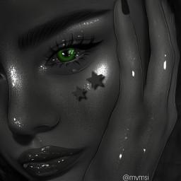 freetoedit aesthetic green greeneye blackandwhite black blackaesthetic ibispaintx ibispaintxart edit prettygirl tumblr highlights art interesting