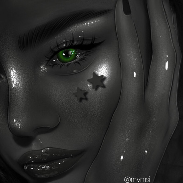🖤 #aesthetic #green #greeneye #blackandwhite #black #blackaesthetic #ibispaintx #ibispaintxart #edit #prettygirl #tumblr #highlights #art #interesting