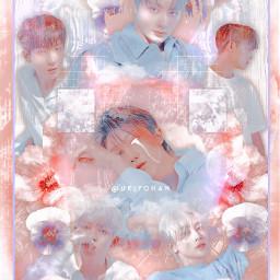 freetoedit j4emn_contest 2 myedit kpop picsart hearts flower flowers heypicsart aesthetic picsartspotlight love clouds seventeen svt bg scoupsloml