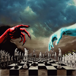 chess goodvsevil freetoedit picsart