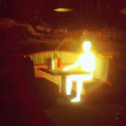 aesthetic glowing glowingperson vhs light