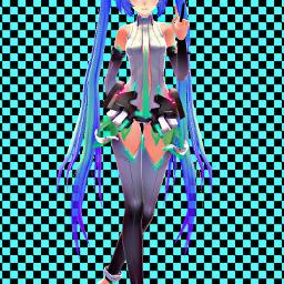 hatsunemiku tda transparent append hdr aquamarine background