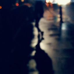 lights london dark blur blue