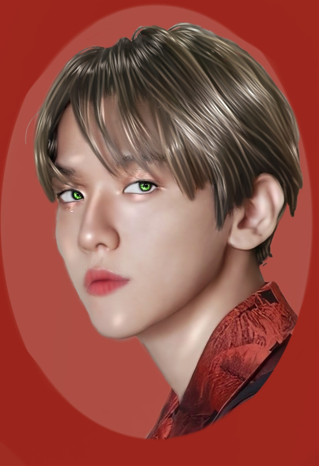 Normally I use a guide but this was my first edit without it, what do you think? In my opinion it has not been so bad. Pd: Ignore the oval so badly done  Apps: Ibis Paint X Idol: Baekhyun EXO Style: Manipulation Color Palette: Red and green  #exo #exobaek #baekhyunexo #baekhyun