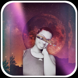 space moon makeup freetoedit