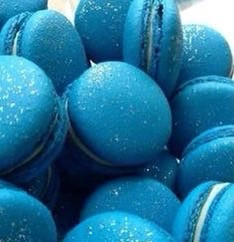 blue food macaroon aesthetic tumblr
