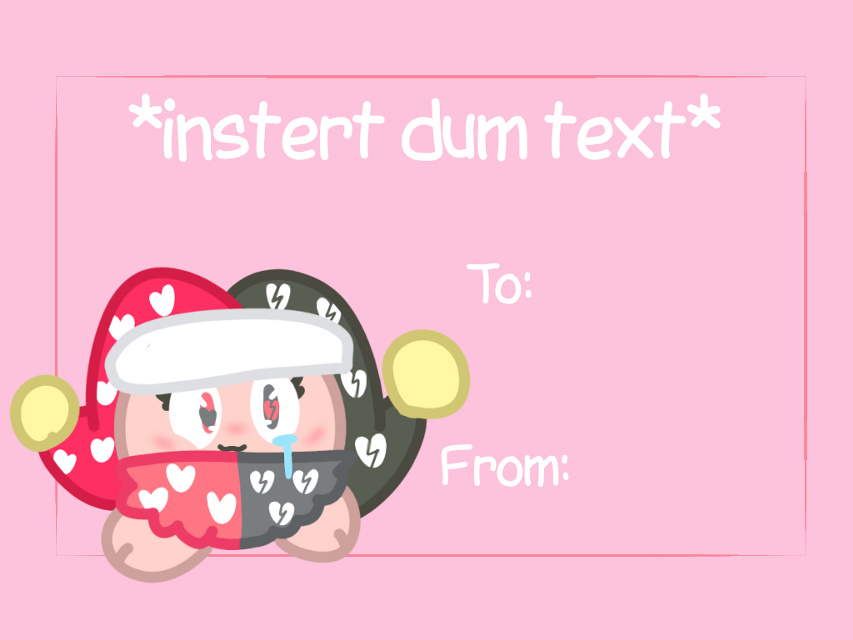 This terrible Valentines Card I made- #valentinesday #heart #valentinescards #brokenheart #cute #weirdcore #kidcore #babycore #cutecore