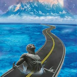 surrealart fantasyart manonroad travelman