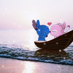 freetoedit stitch cute boat