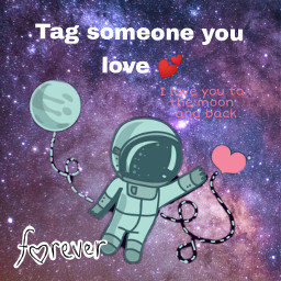 space austronaut love freetoedit