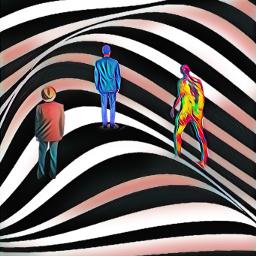 silhouetteman blackandcolours tantasystckers freetoedit ecpatternbackgrounds patternbackgrounds