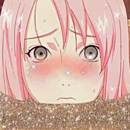sakuraharuno glitter narutogirl freetoedit
