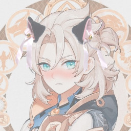 genshinimpact albedo catboy mihoyogenshinimpact freetoedit