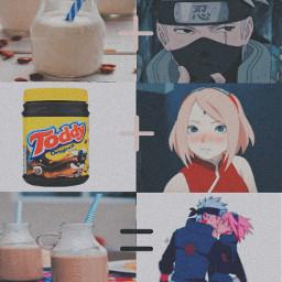 kakasaku hatakekakashi sakurahatake sakuraharuno leite achocolatado toddy
