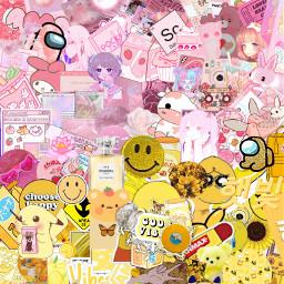 aesthetic edit pink yellow