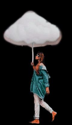 women girls cloud fstickers fsticker remixit freetoedit